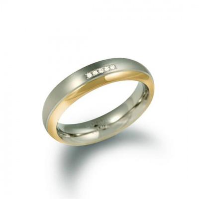 Foto van Titanium ring met diamant van Boccia 0130-10
