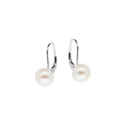 Foto van Zilveren oorhangers met parel 108.0050.08