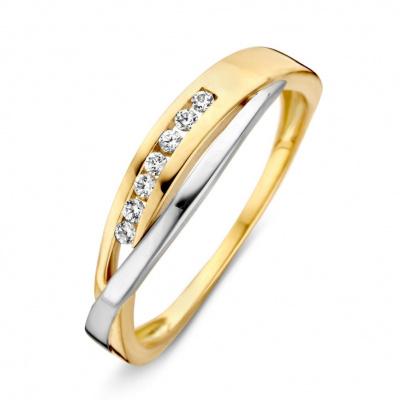 Ring bicolour zirkonia RV426166