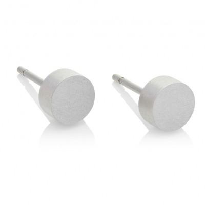 Mini oorknopje, rond 6 mm met steker - mat