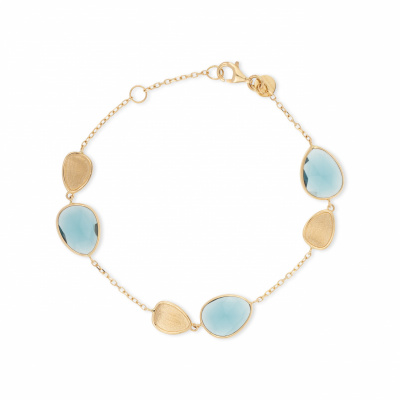 Foto van Italo Bottene 14 krt gouden armband met London Blue Topaas BR3216LB