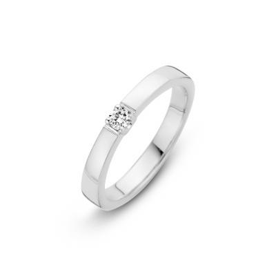 Witgouden ring met 0.09 crt diamant H/SI 70.611.0909