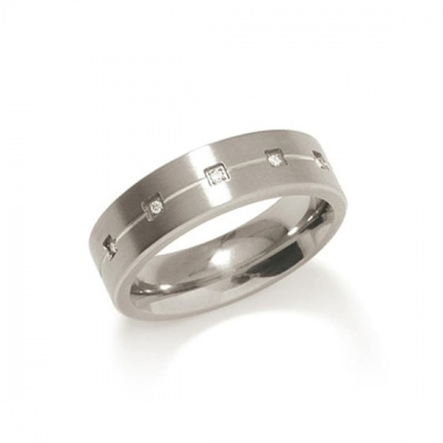 Foto van Titanium ring met diamant van Boccia 0101-20