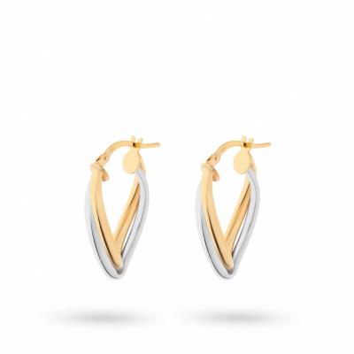 Foto van Bicolor gouden oorhangers van Swing Jewels O185469-14-YW