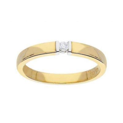 Glow Gouden Ring - Glanzend Diamant 1-0.04ct G/si 214.5216.54