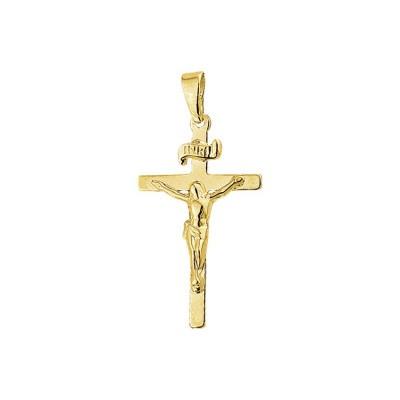 Gouden Hanger 14 krt kruis en corpus 40.05509
