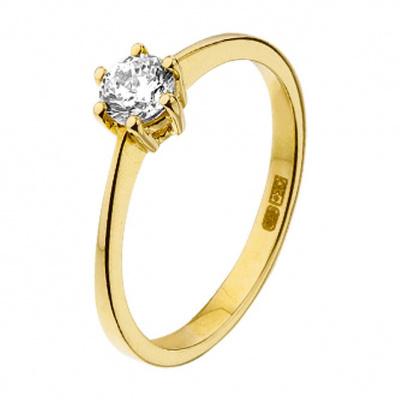 Geelgouden ring met zirkonia 40.14916