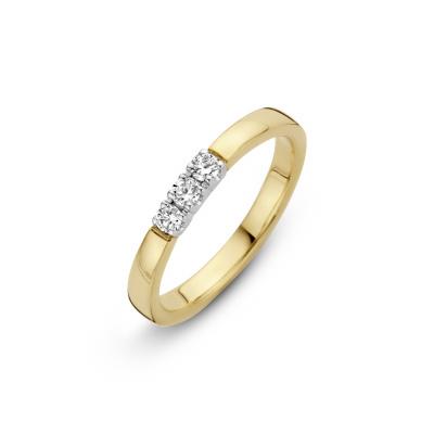 Gouden ring met 5 x 0.05 crt diamant 70.611.0525