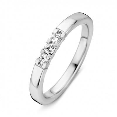 Schitterende witgouden ring met briljant RG214891