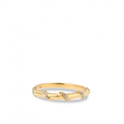 Foto van Geelgouden ring met zirkonia's van Swing Jewels RNC20296007