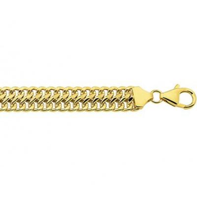 Foto van Gouden armband gourmet dubbel 8 mm 50.00121
