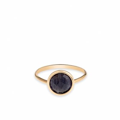 Foto van Italo Bottene gouden ring met blue quartz AN2116 (1) - BO