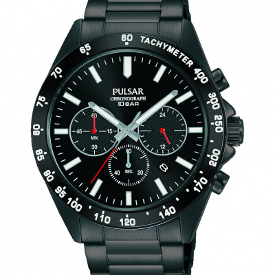 Foto van Pulsar PT3A79X1 herenhorloge met chronograaf en tachymeter