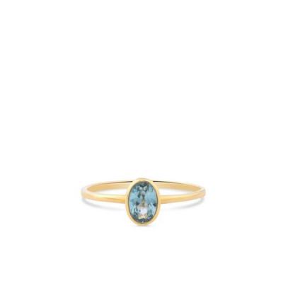 Geelgouden ring met zirkonia ovaal RDC01-4310-01