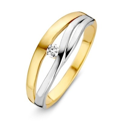 Ring bicolor zirkonia RB425555-52