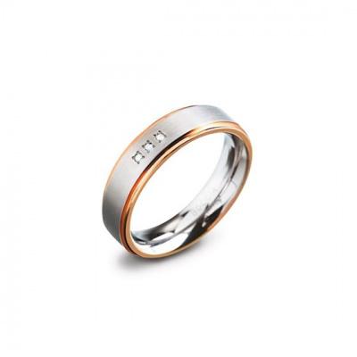 Foto van Titanium ring met diamant van Boccia 0134-02