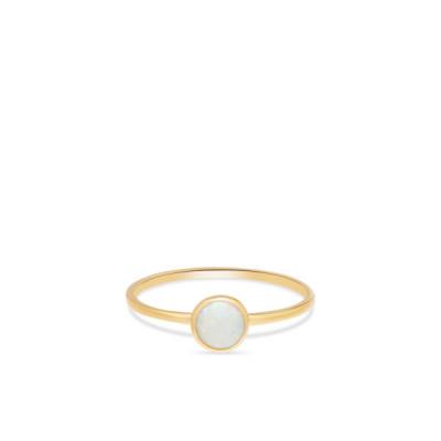 Foto van Geelgouden ring met opaal RDC01-4306-05