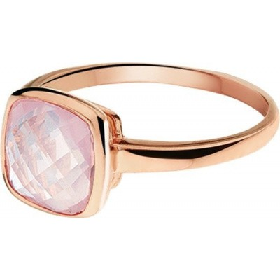 Roségouden ring rozenkwarts 44.00381