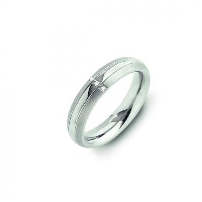 Foto van Titanium ring met diamant van Boccia 0131-03