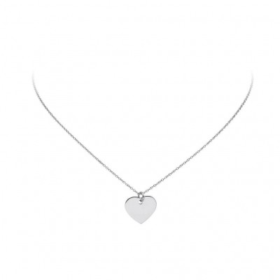 LOVENOTES ZILVEREN COLLIER - 102.0557.45 HART 14X15MM - GERODINEERD - 42+3CM