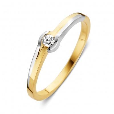 Foto van Ring bicolor zirkonia RH426586 maat 56