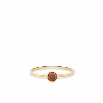 Geelgouden ring met zirkonia RDC01-4302