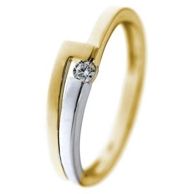 Foto van Ring bicolor zirkonia RB425987-56