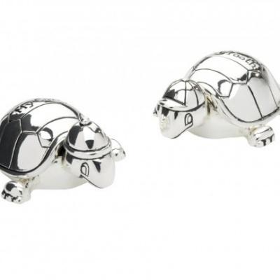 Tanden- en haarlokdoosje Schildpad, zilver kleur 6058261