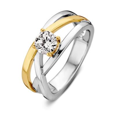 Foto van Ring zilver/goud zirkonia RF626845