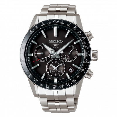Seiko Astron GPS Solar SSH003J1 chronograaf met titanium/keramiek