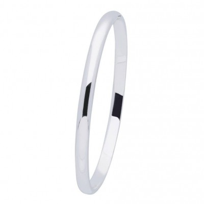 Foto van BEST BASICS ZILVEREN MASSIEVE BANGLE 5 MM - OVAAL 60 MM