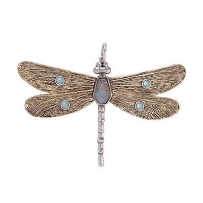 Waxing Poetic Transformative Dragonfly Pendant TRNSD4MS-POPL