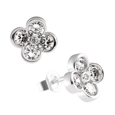 Foto van Diamonfire zilveren oorknoppen met zirkonia