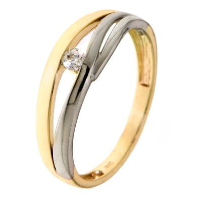 Ring bicolor zirkonia RB425555-56