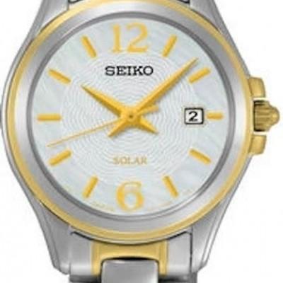 Seiko dameshorloge bi-color solar SUT234P1