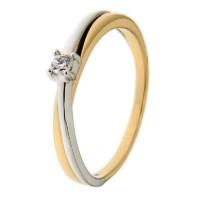 Ring bicolor zirkonia RH425681-56