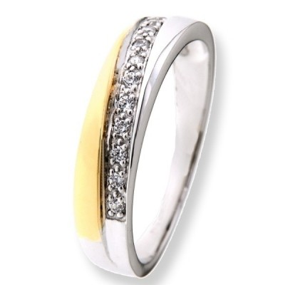 Ring bicolor zirkonia RF425861-56