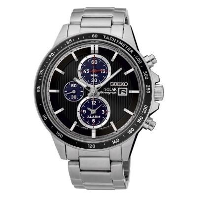 Seiko herenhorloge chronograaf solar SSC435P1