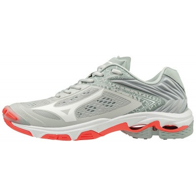 Mizuno Wave Lightning Z5 Volleybalschoen Dames Lichtgrijs