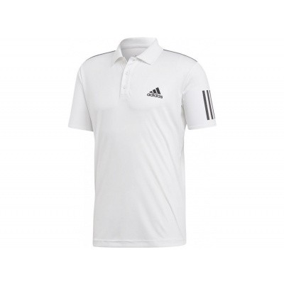 Adidas Club 3 Stripes Polo Heren Wit