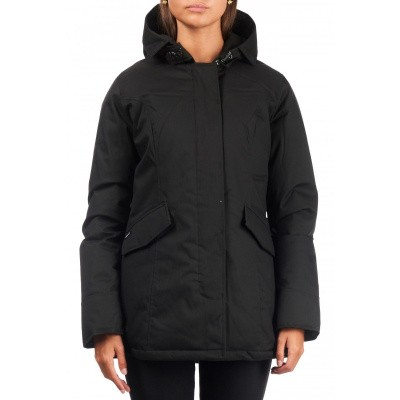 Airforce 2 Pocket Herringbone Classic Parka Zwart Dames