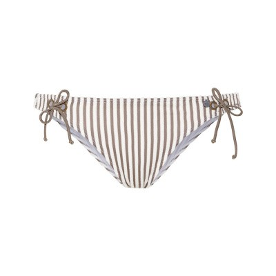 Foto van Beachlife Taupe Stripe bikinibroekje