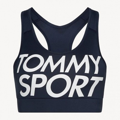 Foto van Tommy Sport Bra Logo Medium Support Navy