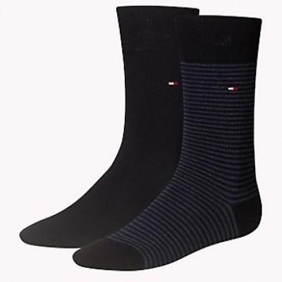 Foto van Tommy Hilfiger 2 pack heren sokken 342029001 356 jeans