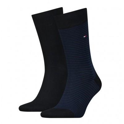 Tommy Hilfiger 2 pack heren sokken 342029001 054 tommy blue