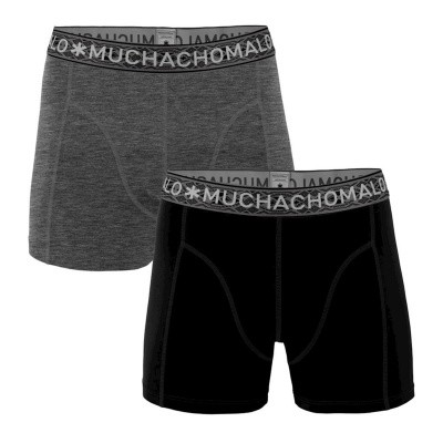 Foto van Muchachomalo 2 pack 1010 SOLID 291 BLACK/DARK GREY