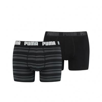 Foto van Puma 2 pack boxers PUMA HERITAGE STRIPE BOXER 2P BLACK 601015001200010