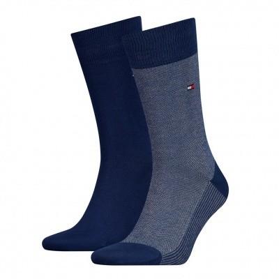 Foto van Tommy Hilfiger 2 pack heren sokken BIRDEYE 482004001 322