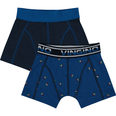 Foto van Vingino short Pool 2-pack boys HS18KBN72502 143 pool blue