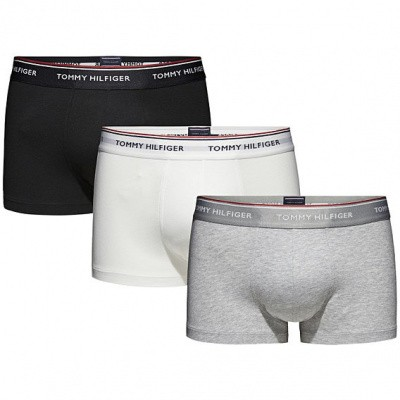 Foto van Tommy HilfigerTrunk 3 PK LOW RISE TRUNK 1U87903841 004 BLACK/WHITE/GREY HEATHER